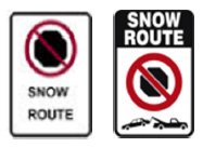 snow route signs