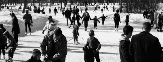 Skating Pond at St. Vital Park 1968