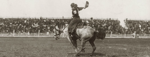Hazel Walker at the Winnipeg Stampede, 1913
