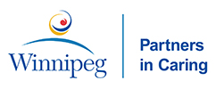 City of Winnipeg logo: Partners in Caring