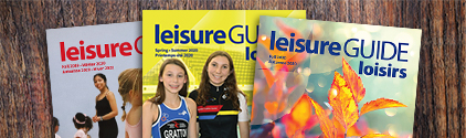 Printed Leisure Guides placed on a table
