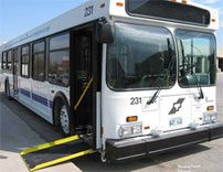 Accessible transit bus