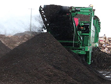 The compost is sifted to remove any large materials