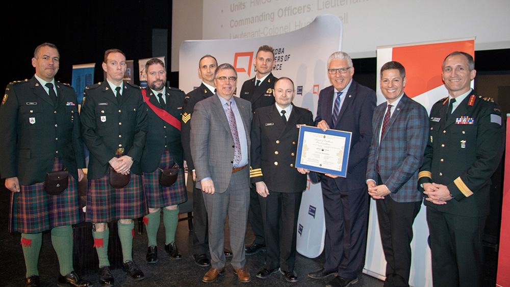 City of Winnipeg recognized for its ongoing support of Reservists