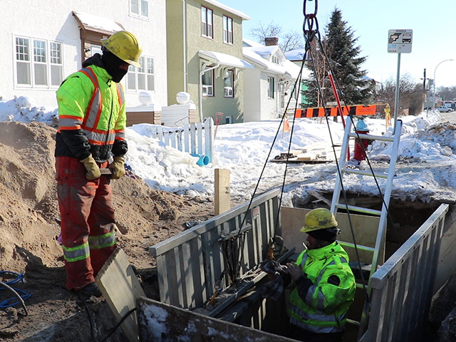 City of Winnipeg crews will work as quickly as possible to repair a water main break.