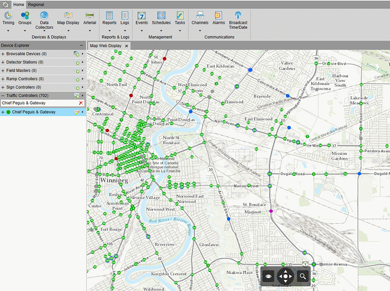 The Traffic Management Centre software