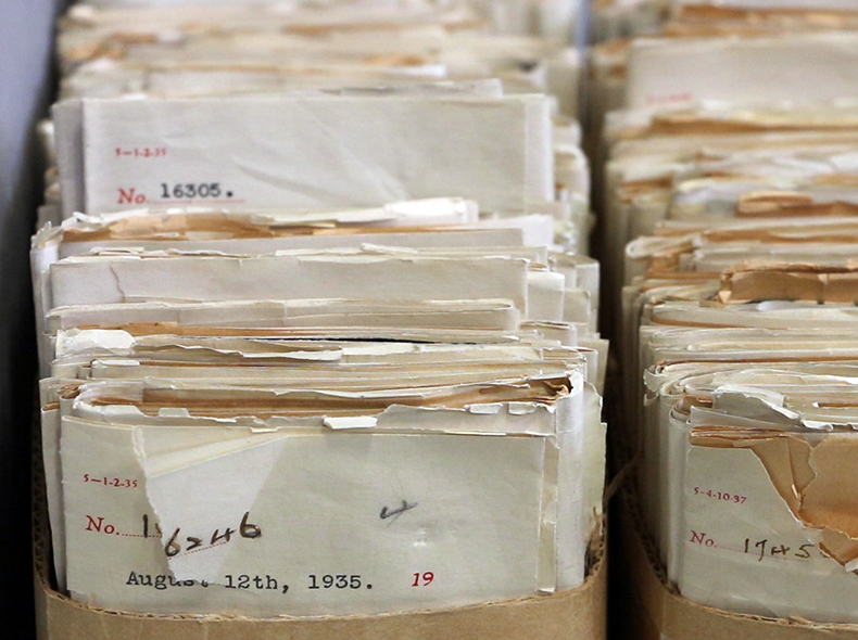 Around 32,000 letters sent between 1874 and 1971 make up the Council Communications series.