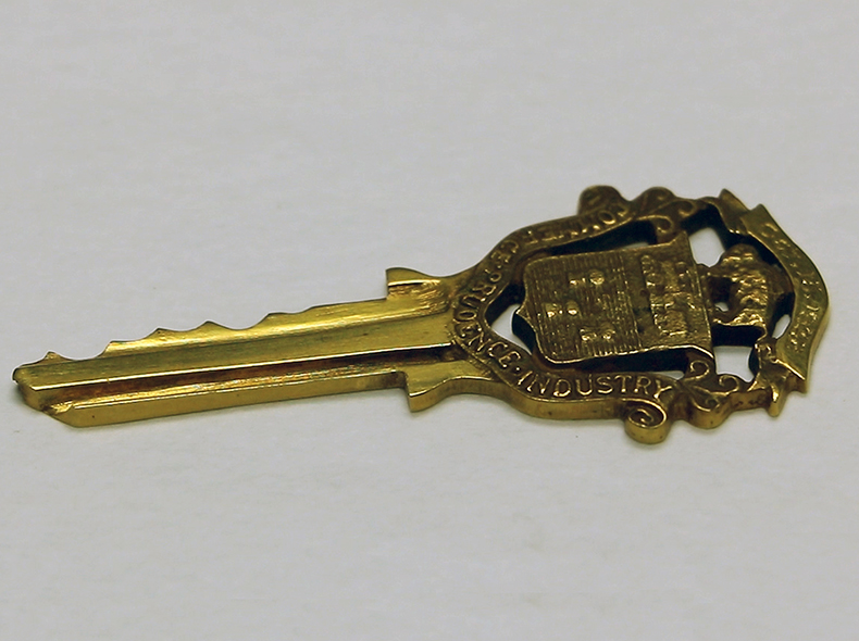 A key to the City is one artifact in the collection.