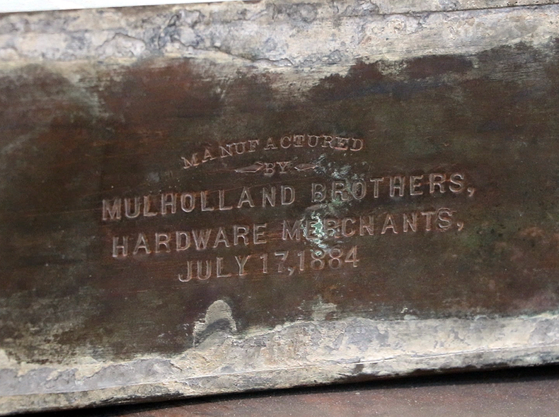 The engraving on one of the recovered time capsules.