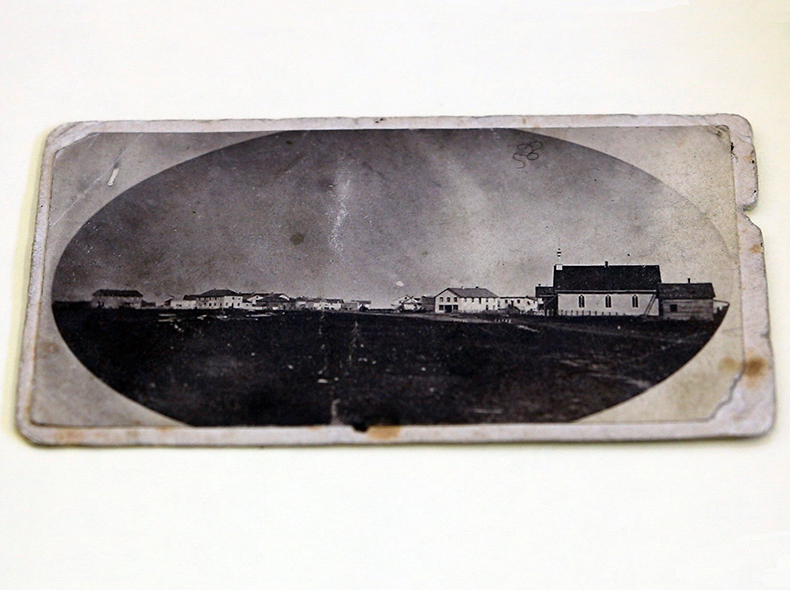 Two photographs of Main Street taken in 1871 and 1872 were given to the City in 1924.