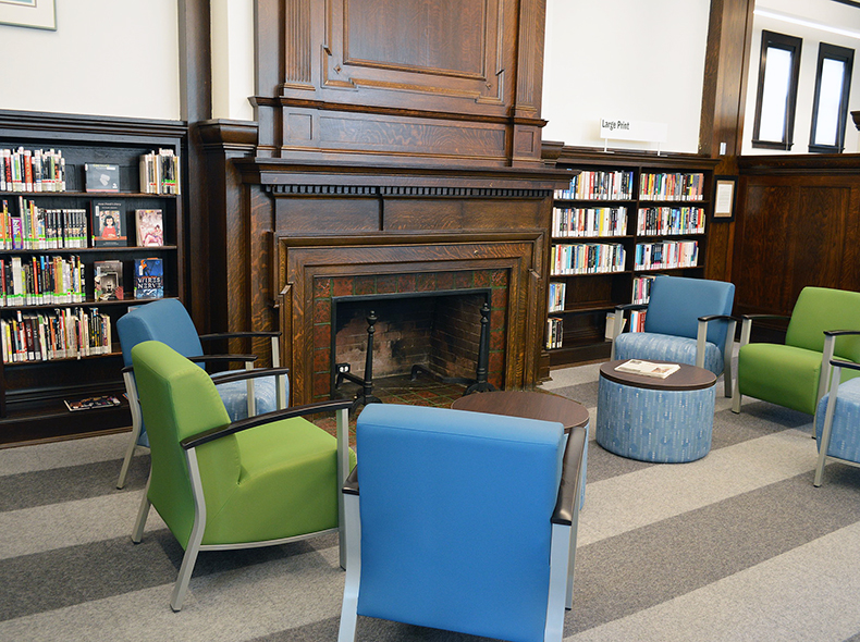 Historic elements of St. John's Library were preserved during the restoration project.