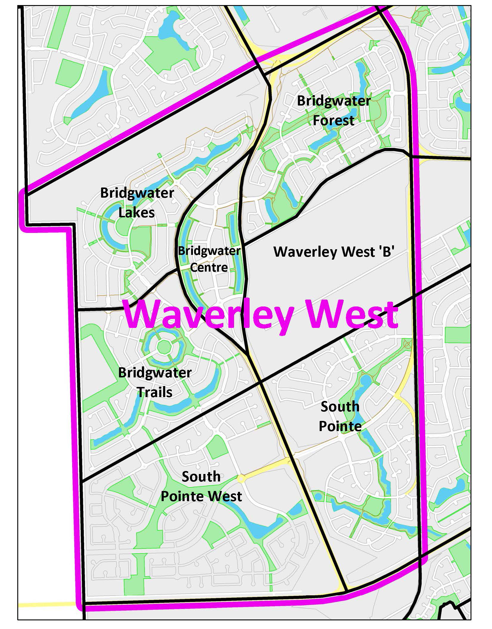 Waverley West Map