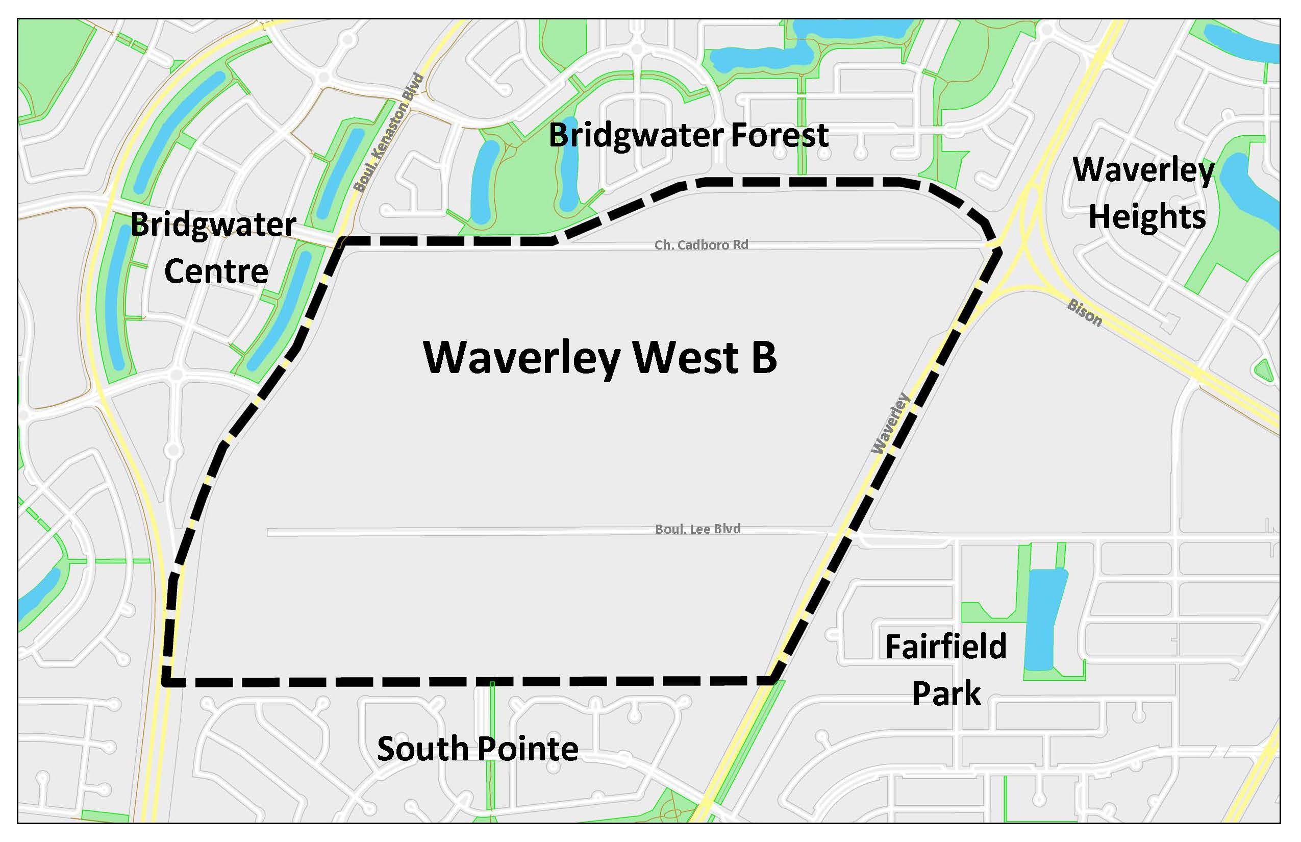 Waverley West Neighbourhood B Planning Area Map