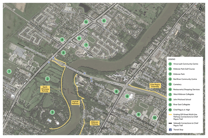 Chief Peguis Greenway Extension Area Map