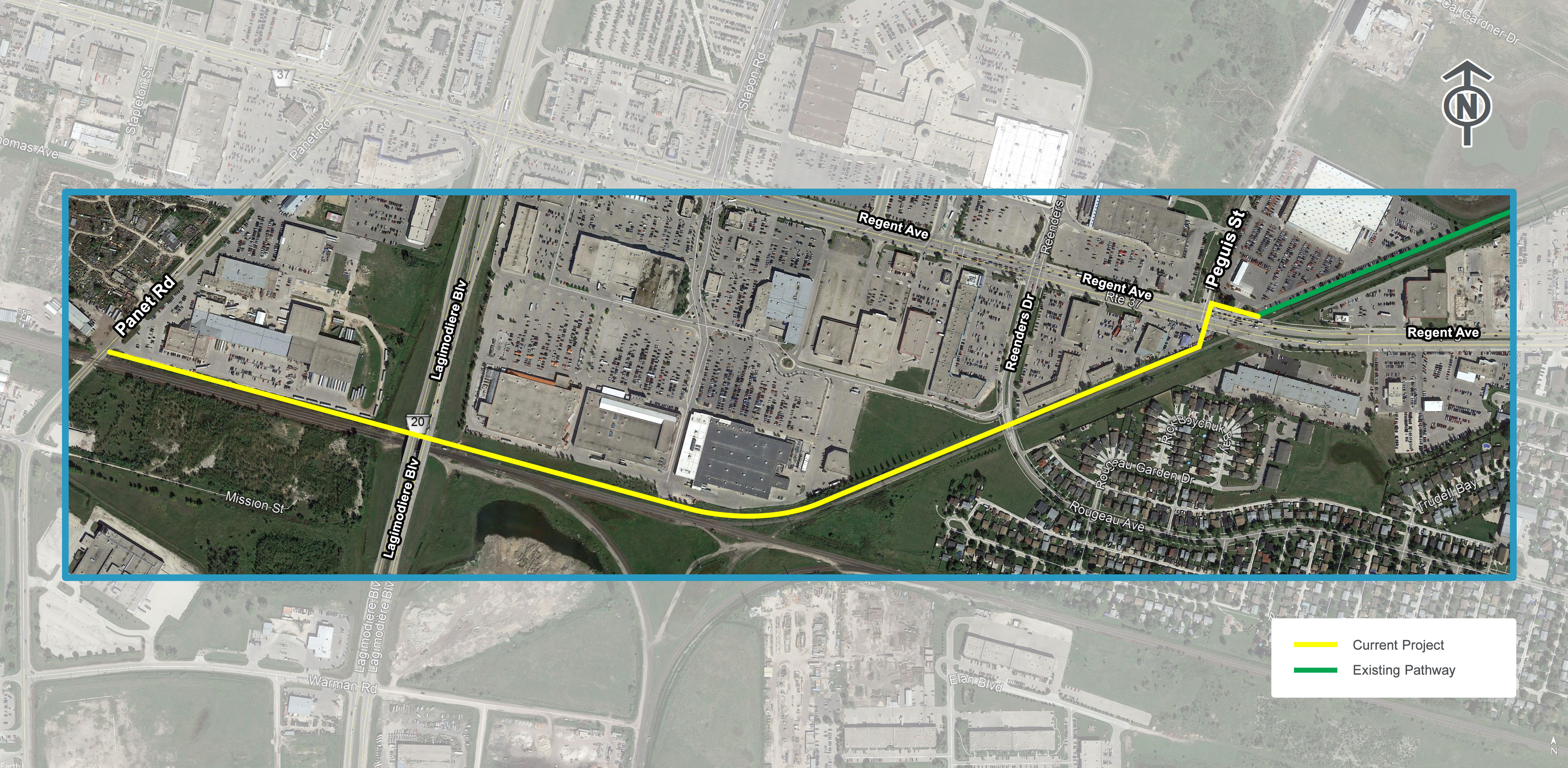 Transcona Trail Extension map