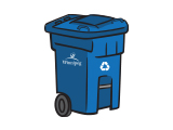 Residential recycling cart collection