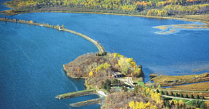 Aerial photo of Shoal Lake intake