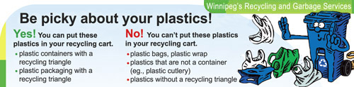 Be careful which type of plastics you place in your cart!